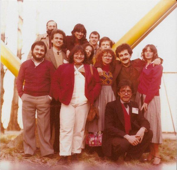 Foto storica degli inizi di Luigi Bernardi, dei primissimi anni dell'Isola Trovata,