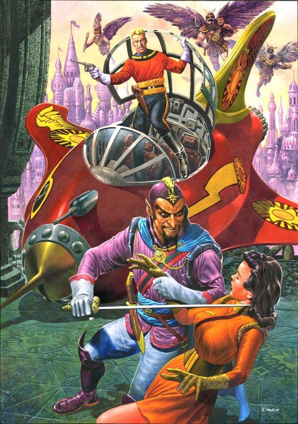 copertina di un albo recente dedicato a Flash Gordon - versione a colori