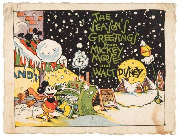 """la """"cartolina"""" Disney, degli anni 30 (del secolo scorso), postata su Facebook da Loris Cantarelli (direttore editoriale della rivista Fumetto di China),"""