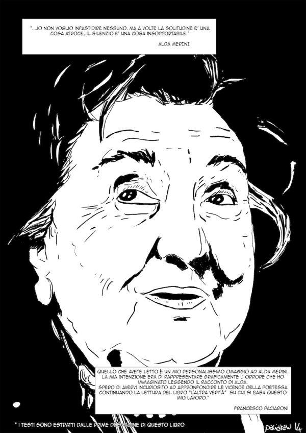 """OMAGGIO AD ALDA MERINI di Francesco Paciaroni. Il fumetto  è basato sulle prime pagine del libro """"L'altra verità"""" di Alda Merini. Pagina 3"""