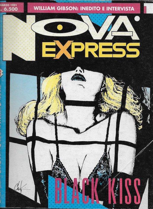 L'immagine della copertina del n. 1 della rivista Nova Express  (Marzo 191)