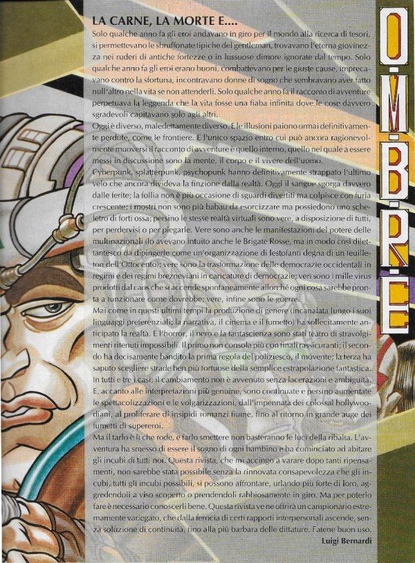 Editoriale scritto da Luigi Bernardi del n. 1 della rivista Nova Express