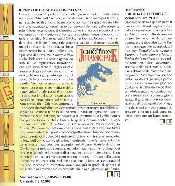 Recensioni scritte da LuigiìBernardi dal n. 1 della rivista Nova Express