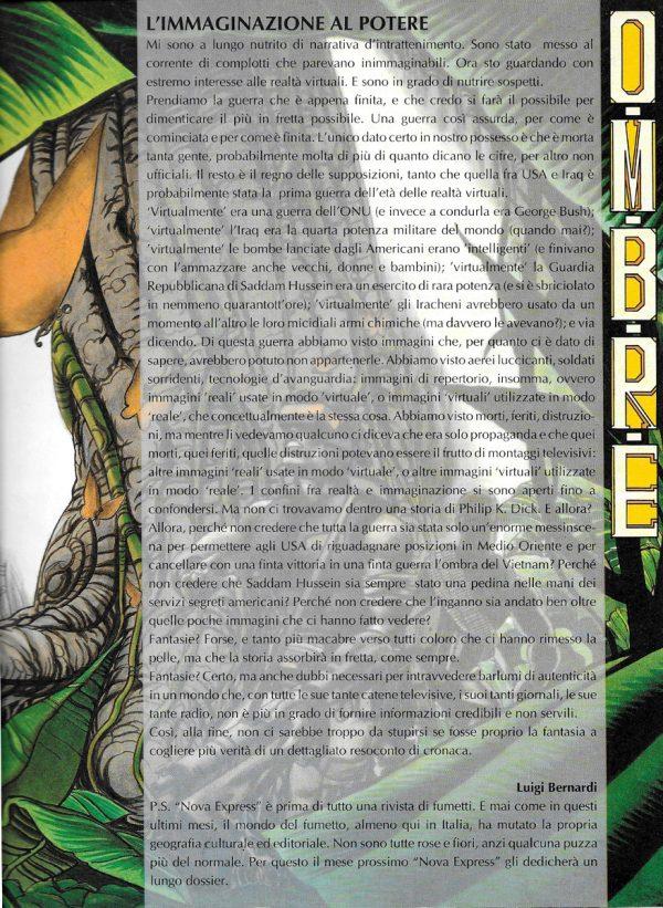 Editoriale scritto da Luigi Bernardi del n.2  della rivista Nova Express