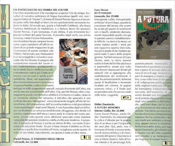 Recensioni scritte da Luigi Bernardi dal n. 2 della rivista Nova Express