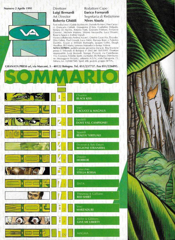 Sommario del n. 2 della rivista Nova Express