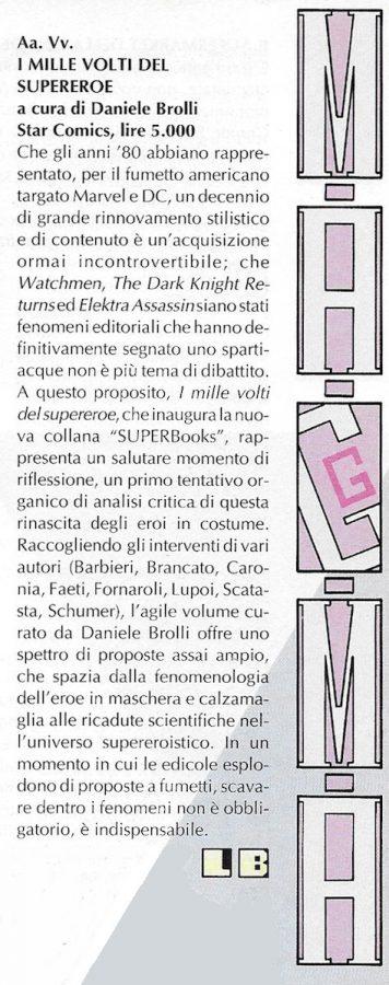 Recensione scritta da Luigi Bernardi dal n. 3 della rivista Nova Express