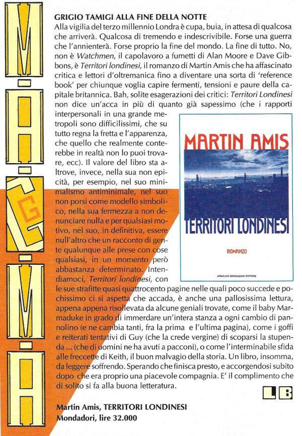 Recensione scritta da Luigi Bernardi dal n. 4 della rivista Nova Express