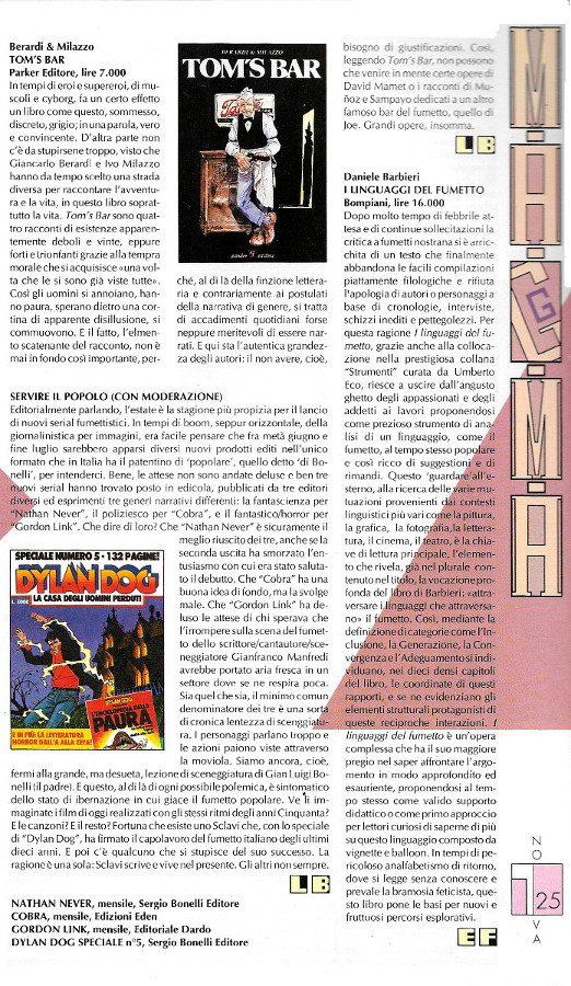 Recensioni scritte da Luigi Bernardi dal n. 5   della rivista Nova Express