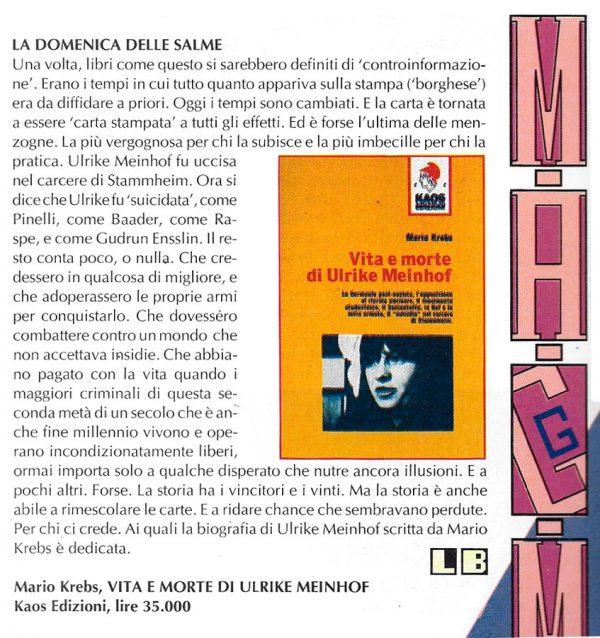 Altra Recensione scritta da Luigi Bernardi dal n. 5 della rivista Nova Express