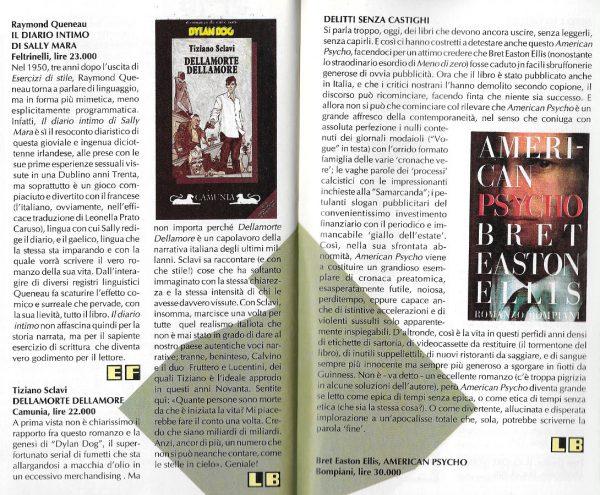 Recensioni scritte da Luigi Bernardi dal n.6 della rivista Nova Express