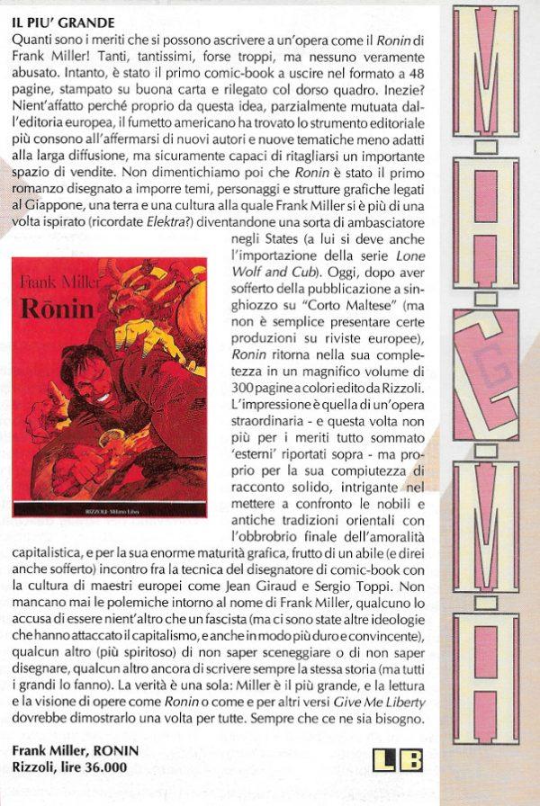 Recensione scritta da Luigi Bernardi dal n. 7 della rivista Nova Express