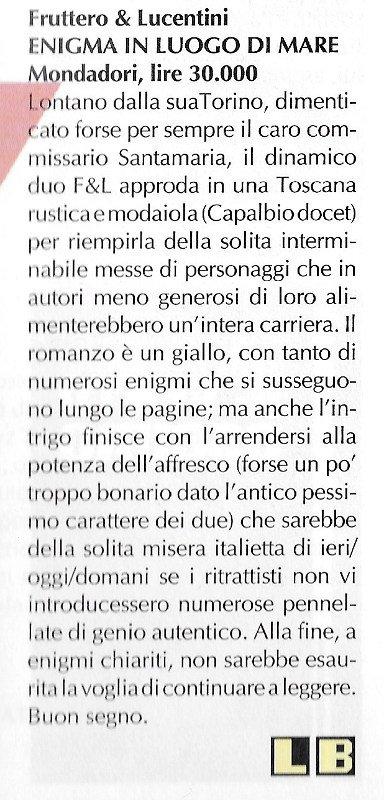 Altra recensione scritta da Luigi Bernardi dal n. 7 della rivista Nova Express