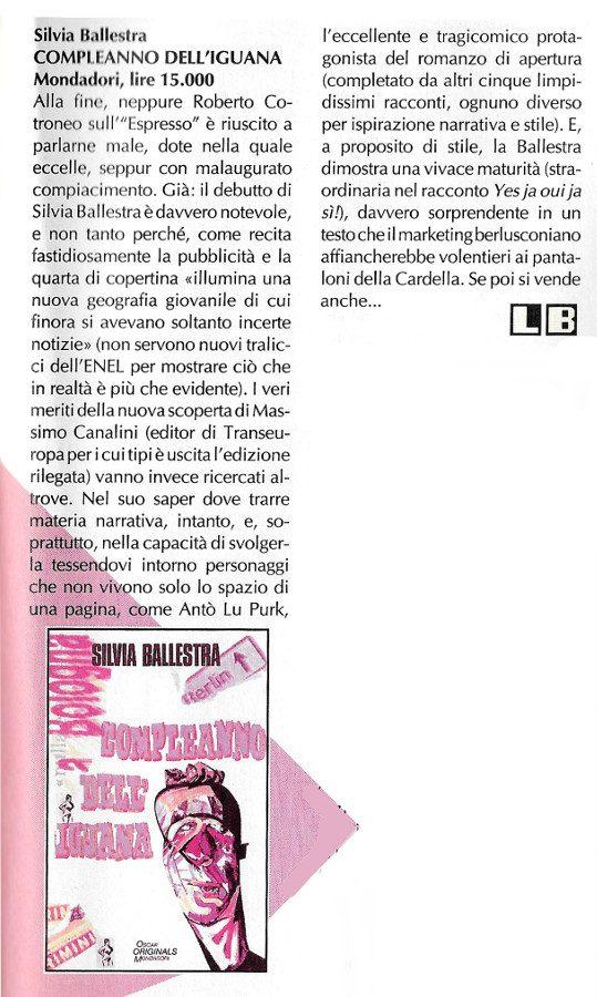 Ancora un'Altra recensione scritta da Luigi Bernardi dal n. 7 della rivista Nova Express