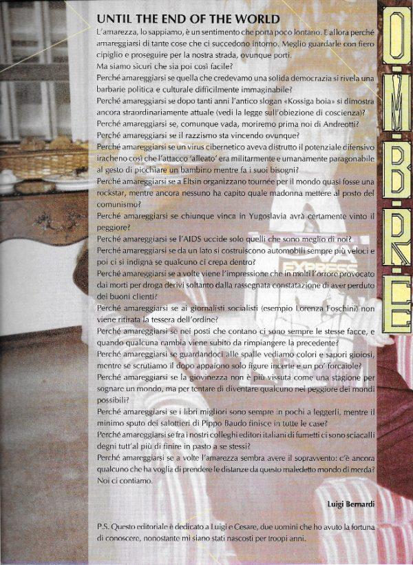 ditoriale scritto da Luigi Bernardi del n. 8 della rivista Nova Express
