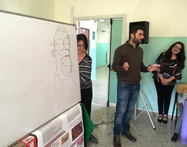 Lelio Bonaccorso, parla di  i Peppino Impastato agli studenti dell'Istituto Scolastico Comprensivo di Santa Lucia del Mela