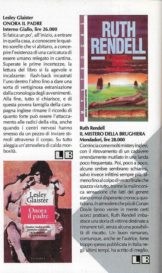 Recensioni scritte da Luigi Bernardi dal n. 9 della rivista Nova Express