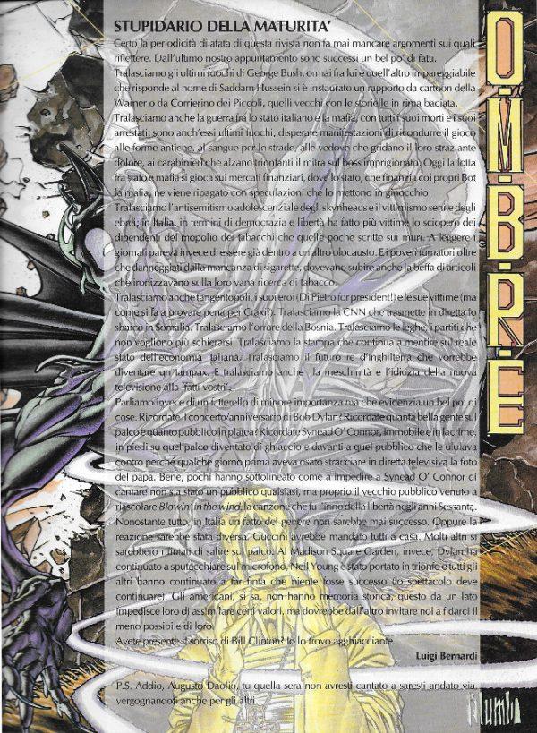 Editoriale scritto da Luigi Bernardi del n. 11 della rivista Nova Express