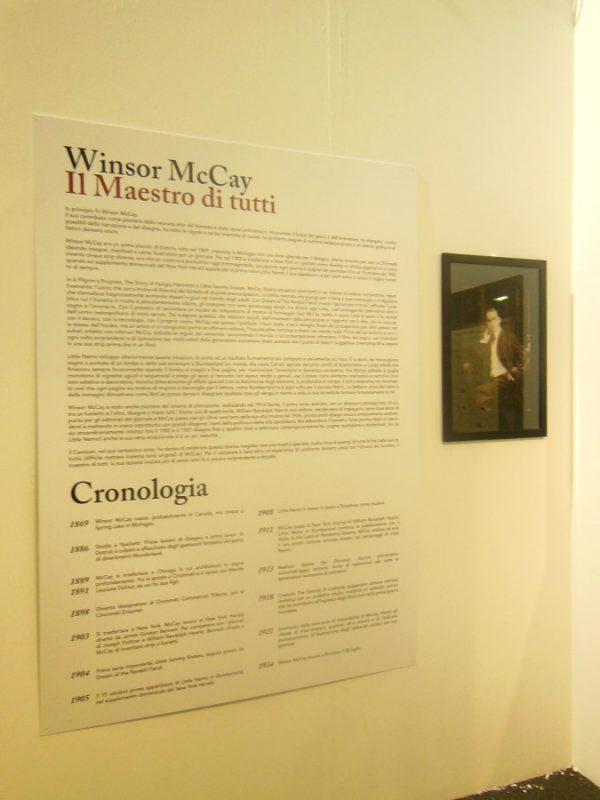 pannello introduttivo della mostra UN MAESTRO DEGLI ALBORI: Winsor McCay –