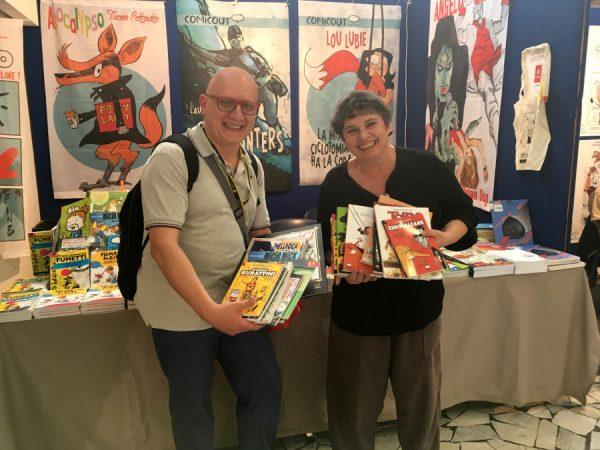 LA DONAZIONE PER LA BIBLIOTECA DEL FUMETTO da parte di Laura Scarpa e di ComicOut