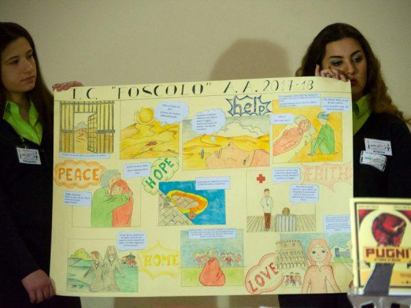 """Un altro bel cartoncino realizzato dagli  studenti dell'ist. Comprensivo """"Foscolo"""""""
