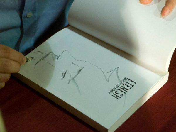 Dedica disegnata da Paolo Castaldi