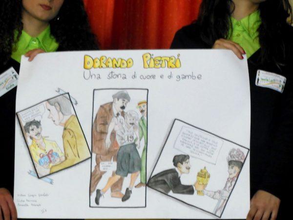 uno dei cartoncini dedicato ai Dorando Petri.