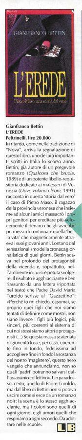 Altra recensione scritta da Luigi Bernardi dal n. 12 della rivista Nova Express