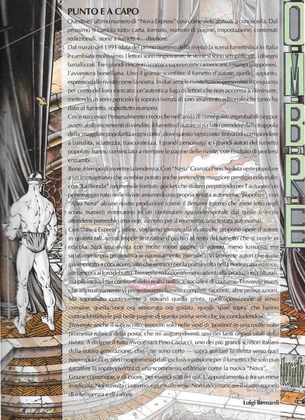 Editoriale scritto da Luigi Bernardi del n. 12 della rivista Nova Express