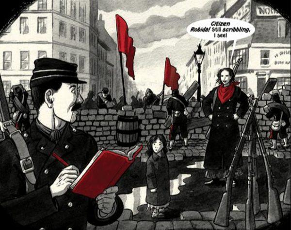 ricostruzione delle barricate da parte di Bryan Talbot