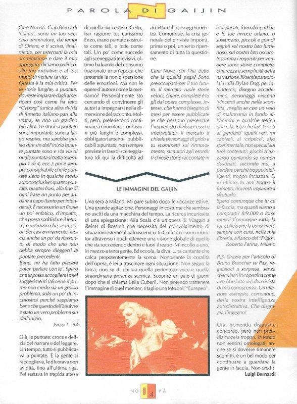 Editoriale-Parola di Gaijin scritto da Luigi Bernardi del n. 3 della rivista Nova Express