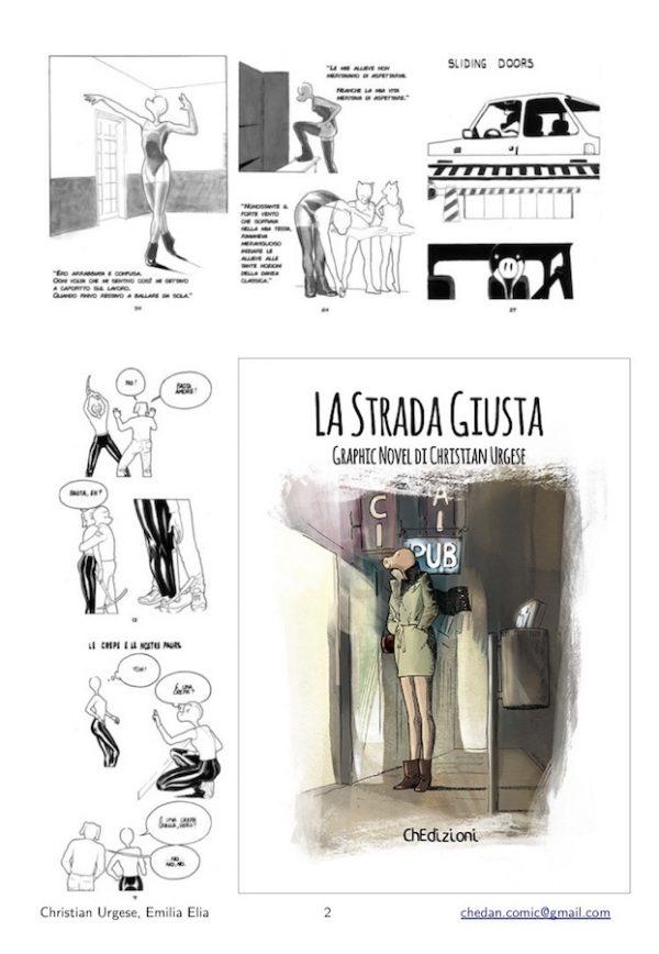 """Copertina ed alcune immagini del volume """"La Strada giusta"""", di Christian Urgese"""
