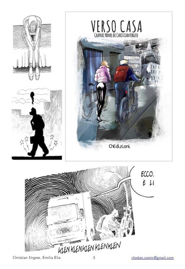 """Copertina ed alcune immagini del volume """"Verso casa"""", di Christian Urgese"""