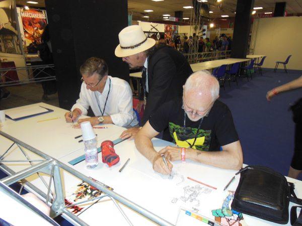I disegnatori Mojo e Civitelli in area Live