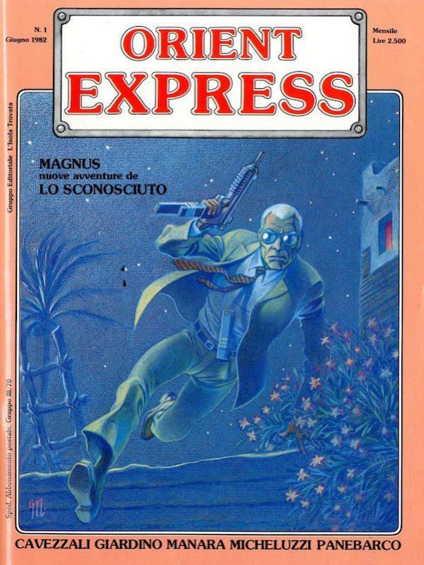 L'immagine della copertina del n. 1 della rivista Orient Express  (Giugno 1982)