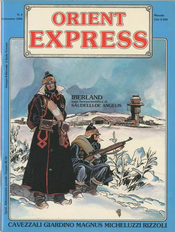 L'immagine della copertina del n. 4 della rivista Orient Express  (settembre 1982)