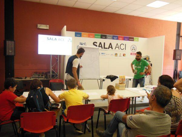 Laboratori di Lelio Bonaccorso e Marco Rizzo con i bambini
