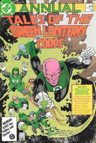 Il Green Lantern Corps. Copertina di un Annual.