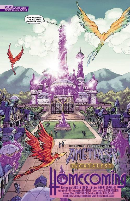 La città del regno di Amethyst di Gemworld