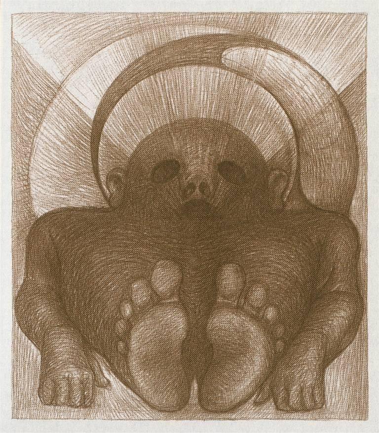 illustrazione del poliedrico artista Petr Nikl, dedicata al Golem