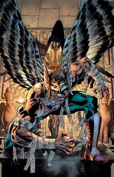 Hawkman e Hawkgirl nell'antico egitto