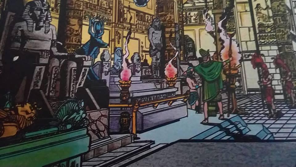 La tomba di Kha-ef-re ove è costudito lo scarabeo blu