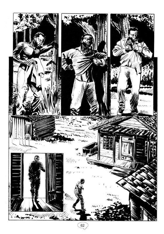 ANTEPRIMA: una pagina tratta da primo episodio di Freeman, dal 4 ottobre su Skorpio,