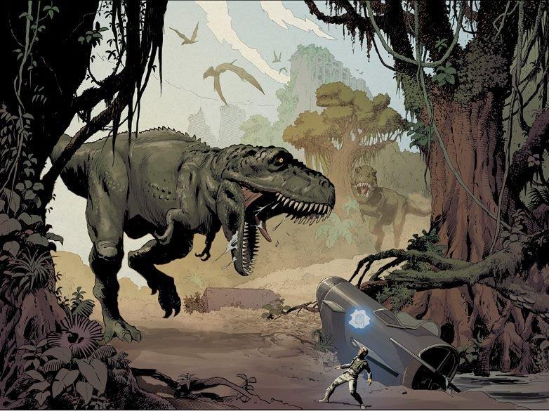 Illustrazione dedicata ai dinosauri