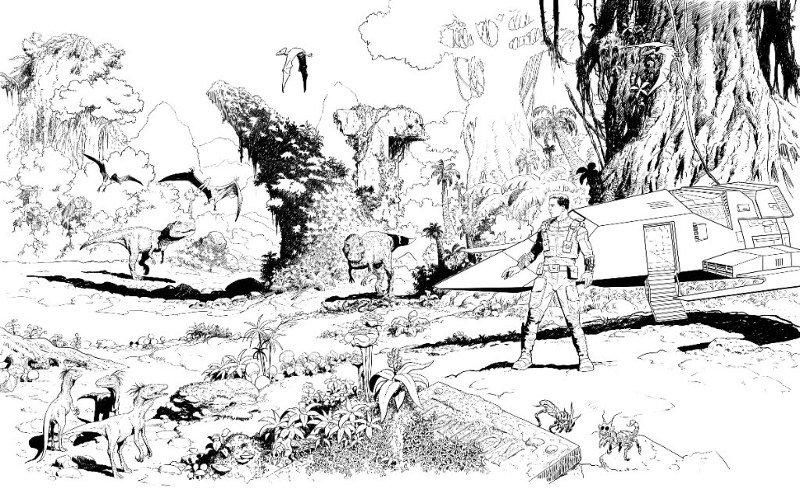 Altra illustrazione dedicata ai Dinosauri