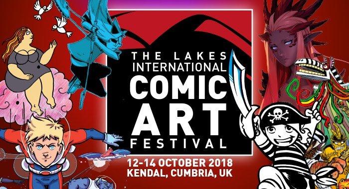 Banner-copertina del the Lakes International Comic Art Festival 20178