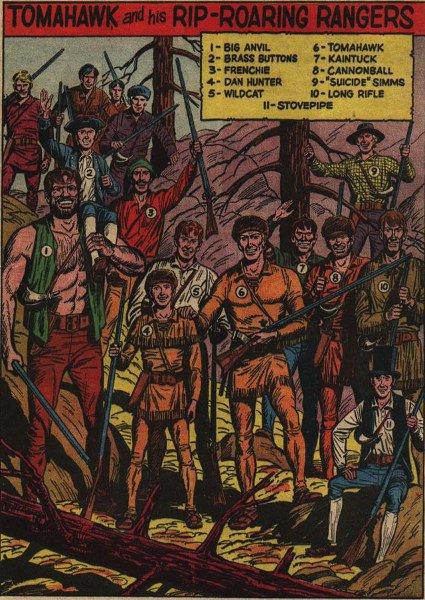 Tomahawk, Dan Hunter e gli altri rangers di questo periodo - DAL DIARIO DI RIP HUNTER parte 8^