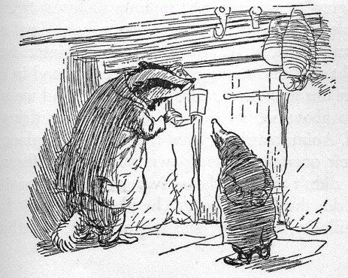 Un tasso è anche uno dei personaggi più capaci de Il vento tra i salici, un'altra opera che ha fortemente influenzato Grandville.