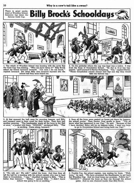 Billy Brock's Schooldays, una striscia a fumetti degli anni '50 che usciva sul fumetto Playhour