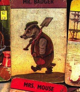 illustrazione da una carta da gioco degli anni '30 della serie Woodland Happy Families